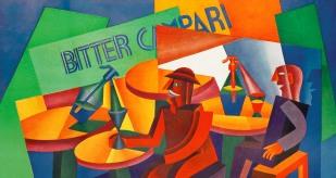 Pintura de Depero, anunciant Campari