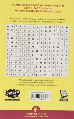 """Contraportada del llibre """"Gamificación"""""""