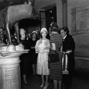 Visita de la reina Elisabeth II als Musei Capitolini