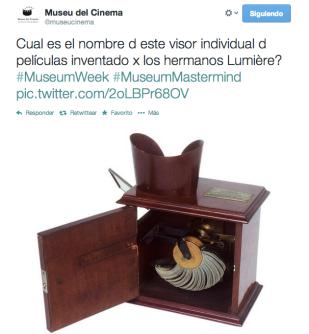 #MueumMastermind al Museu del Cinema