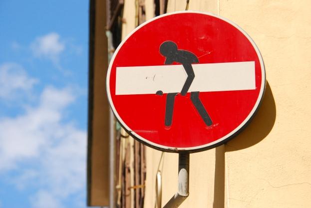 Clet Abraham Street Art Florència